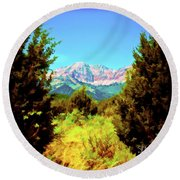 Deseret Peak Round Beach Towel