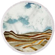 Desert Calm Round Beach Towel