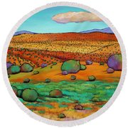 Desert Day Round Beach Towel