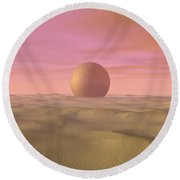 Desert Dream Of Geometric Proportions Round Beach Towel