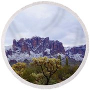 Desert Dusting Round Beach Towel
