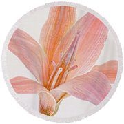 Desert Flower Round Beach Towel