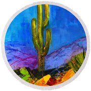 Desert Giant Round Beach Towel by Elise Palmigiani