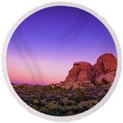 Desert Grape Rock Round Beach Towel