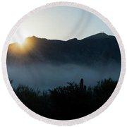 Desert Inversion Sunrise Round Beach Towel