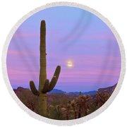 Desert Moon Round Beach Towel