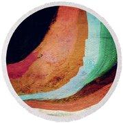 Desert Night-abstract Art By Linda Woods Round Beach Towel