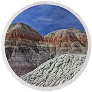 Round Beach Towel featuring the photograph Desert Pastels by Gary Kaylor