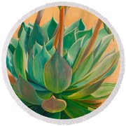 Desert Rainbow Round Beach Towel