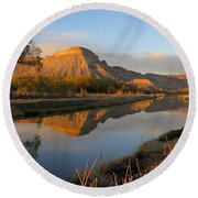 Desert Reflection Round Beach Towel