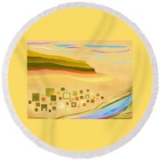 Desert River Round Beach Towel