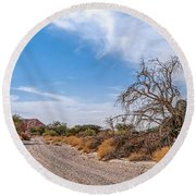 Desert Road Round Beach Towel