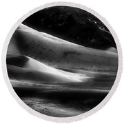 Desert Shadows Round Beach Towel