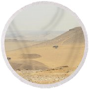 Round Beach Towel featuring the photograph Desert by Silvia Bruno