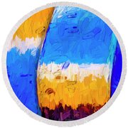 Round Beach Towel featuring the photograph Desert Sky 3 by Paul Wear