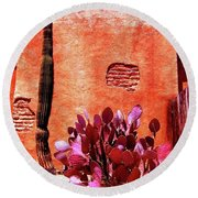 Round Beach Towel featuring the photograph Desert Solace by Michelle Dallocchio