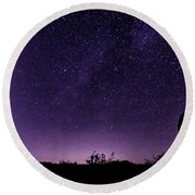 Desert Starscape Round Beach Towel