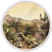 Desert Walk Round Beach Towel