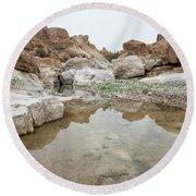 Desert Water Round Beach Towel by Yoel Koskas