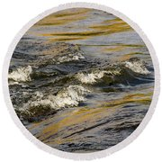 Desert Waves Round Beach Towel