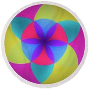 Round Beach Towel featuring the painting Design Number Three by Denise Fulmer