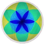 Round Beach Towel featuring the painting Design Number Two by Denise Fulmer