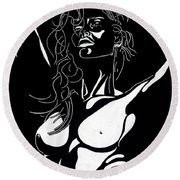 Desire Round Beach Towel by Mayhem Mediums