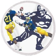 Desmond Howard - Hello Heisman Round Beach Towel