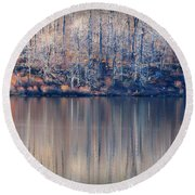 Desolate Splendor Round Beach Towel