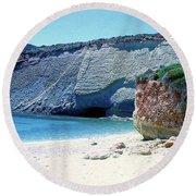 Desolated Island Beach Round Beach Towel
