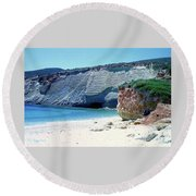 Desolated Island Beach Round Beach Towel