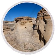 Round Beach Towel featuring the photograph Destination Hoodoos by Fran Riley