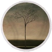 Det Lille Treet - The Little Tree Round Beach Towel