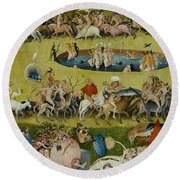 Detail From The Central Panel Of The Garden Of Earthly Delights Round Beach Towel