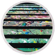Round Beach Towel featuring the painting Detail Of Agoraphobia  by Robbie Masso
