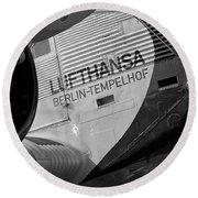 Detail Of Lufthansa Ju-52 Round Beach Towel
