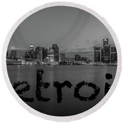 Detroit City  Round Beach Towel