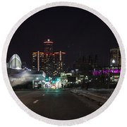 Round Beach Towel featuring the photograph Detroit Michigan by Nicholas Grunas