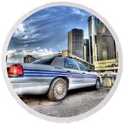 Detroit Police Round Beach Towel