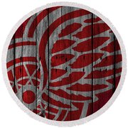 Detroit Red Wings Wood Fence Round Beach Towel