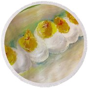 Devilled Eggs Round Beach Towel