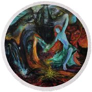 Devils Gorge Round Beach Towel