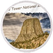 Devils Tower Inspiration 2 Round Beach Towel