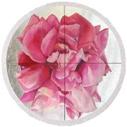 Devoted Love Round Beach Towel