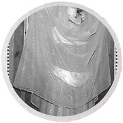 Round Beach Towel featuring the photograph Devotion by Denise Fulmer