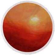 Round Beach Towel featuring the painting Devotion by Valerie Anne Kelly