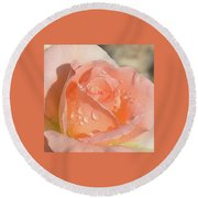Dewy Rose Round Beach Towel