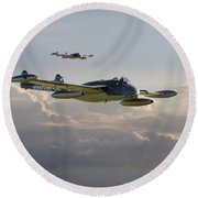 Round Beach Towel featuring the photograph  Dh112 - Venom by Pat Speirs