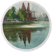 Dhanmondi Lake 04 Round Beach Towel