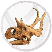 Diabloceratops Round Beach Towel